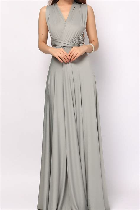 www dress grey long infinity dress convertible dress bridesmaid