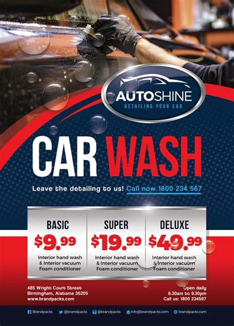 Free Car Wash Business Flyer Template Download For Photoshop Car Wash Flyer Template Free