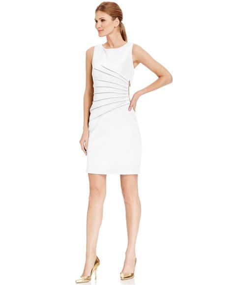 Dress Ivanka lyst ivanka pleated zipper trim scuba sheath dress