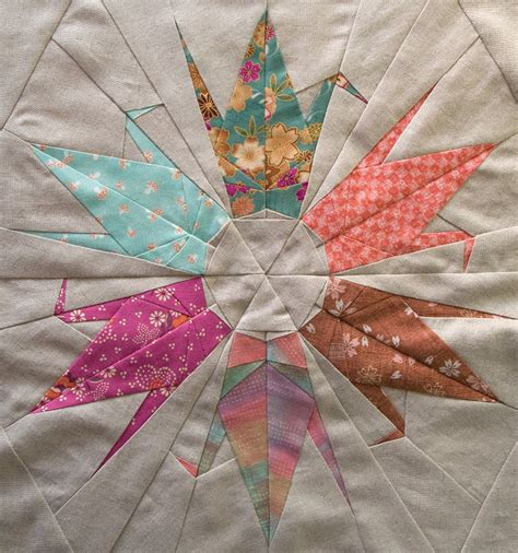 Origami Crane Quilt Pattern - patchworkpottery crane pattern