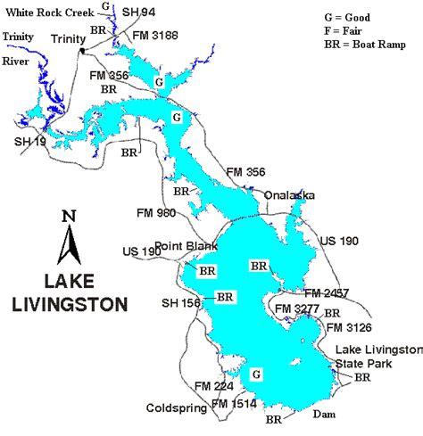 map of lake livingston lake livingston