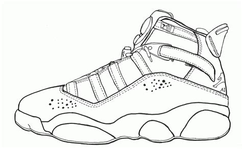 free coloring pages jordan shoes jordan coloring pages shoes coloring home