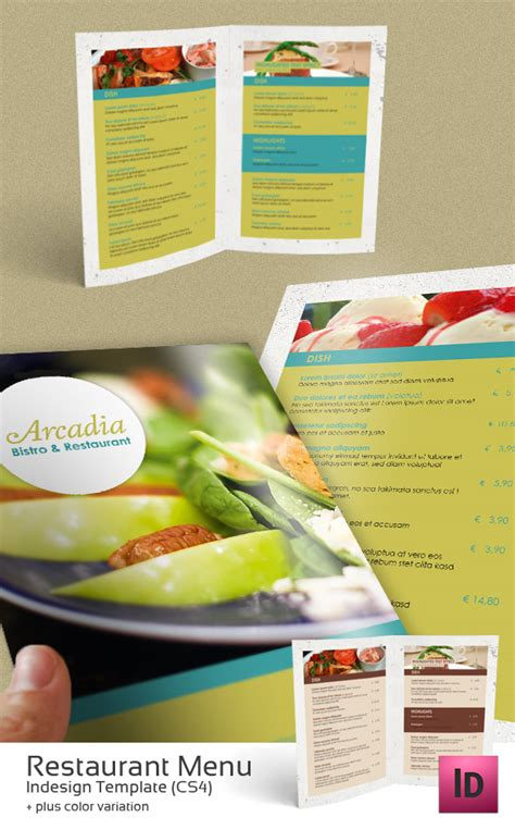 restaurant menu indesign template by newjayne on deviantart