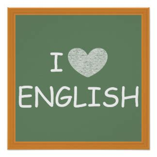 Plakat Englisch by I Posters Zazzle