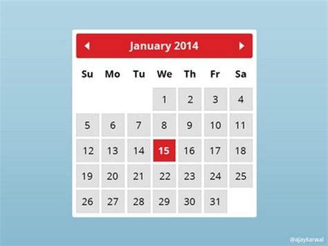 Best Calendar Widget 30 Best Free Calendar Templates Web Resources Free
