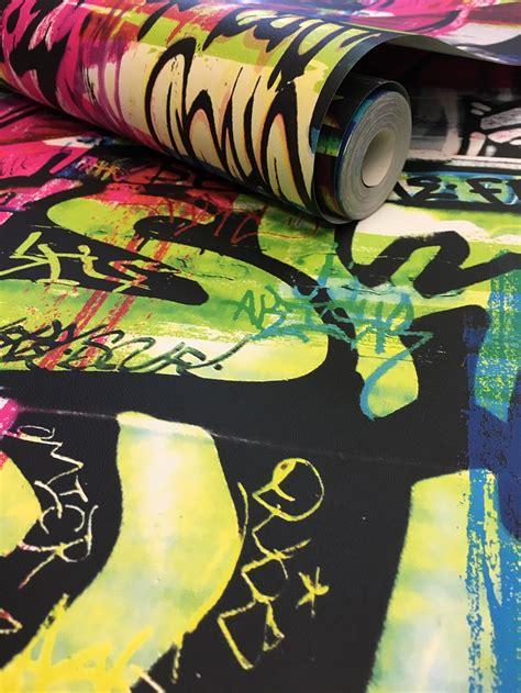 graffiti wallpaper rolls rasch graffiti wallpaper multi 291506