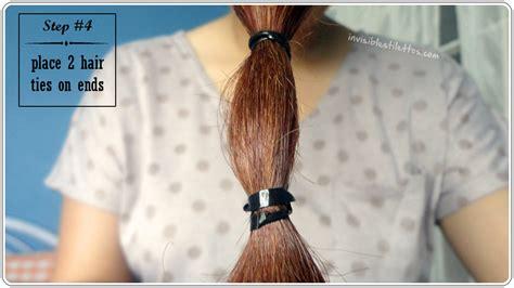 diy layered ponytail haircut for medium to long length