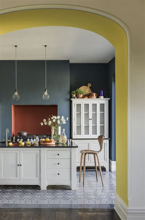 teal and yellow kitchen interiors dna paint by conran grey walls paint colors