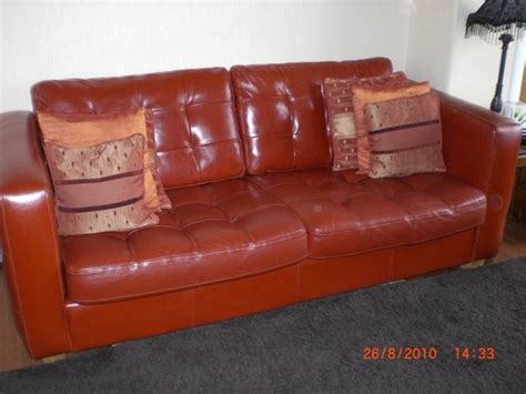 leather suite for sale from limekilns scotland fife