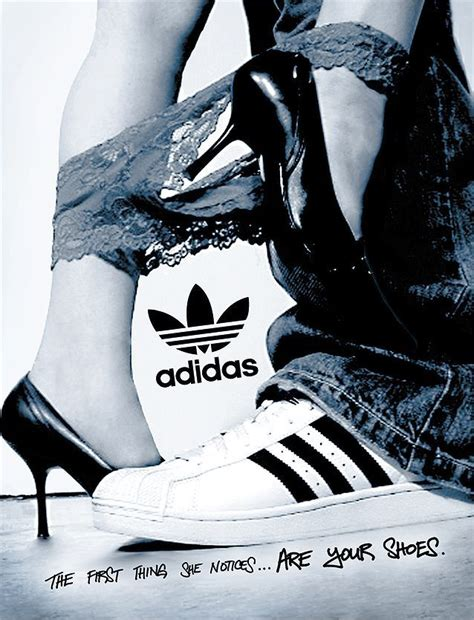 the thing she notices are your shoes adidas shoes advertising sport advertising