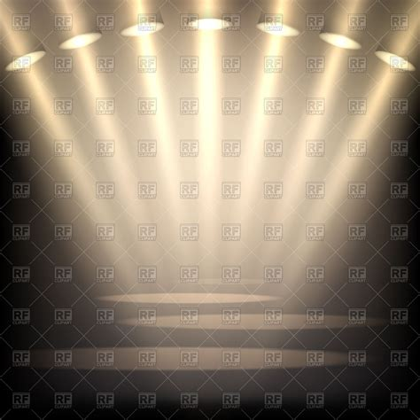 free stage background design vector golden stage light background vector clipart image 100683