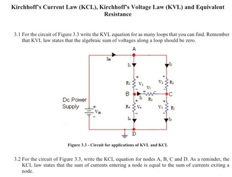 kvl parallel resistors for the circuit of figure 3 3 write the kvl equati chegg