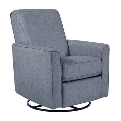 fabric swivel glider recliner pemberly row fabric swivel glider recliner in carlton dove