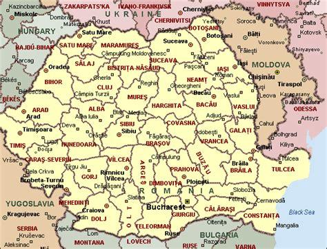 romania map with cities romania map and romania satellite image