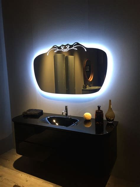 bathroom mirror with lights behind how to integrate a black vanity into the bathroom without
