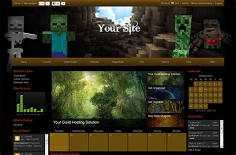 minecraft themes html minecraft site templates gamer launch