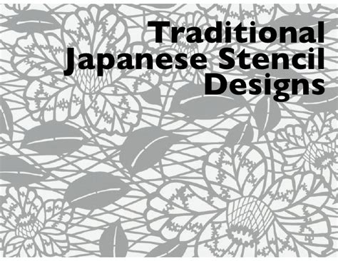 japan design traditional japanese stencil designs
