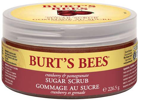 burts bees spa sugar scrub cranberry pomegranate