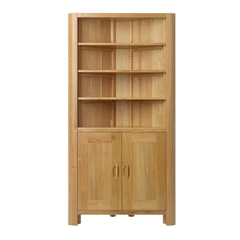 large bookcase with doors bookshelf astonishing corner bookcase with doors