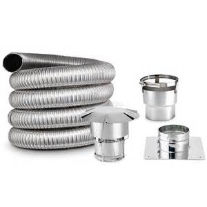 5 1 2 x 35 diy chimney smooth wall liner kit with stove
