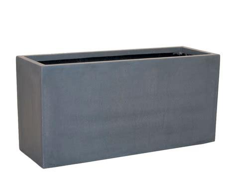 pflanztrog blumentrog fiberglas 80x30x40cm grau - Pflanzkübel Fiberglas Grau