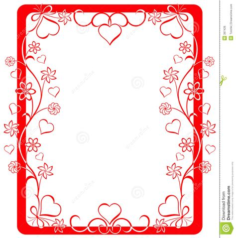 valentines picture frames frame vector stock vector illustration of
