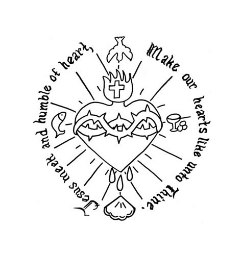sacred heart coloring page cherished hearts at home sacred heart and immaculate