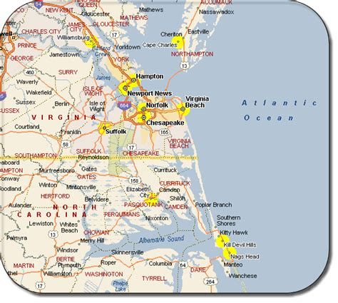 map of virginia and carolina with cities virginia map free printable maps