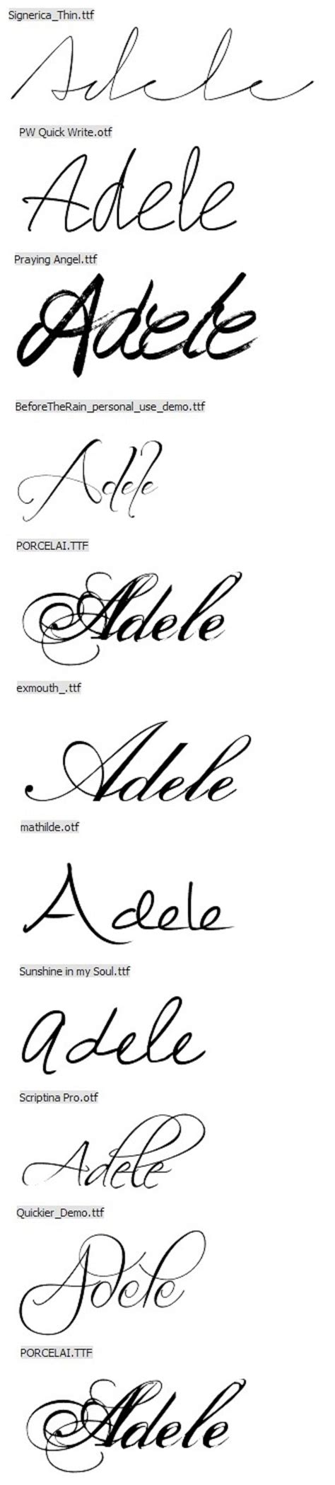 name tattoo fonts the 25 best fonts for names ideas on