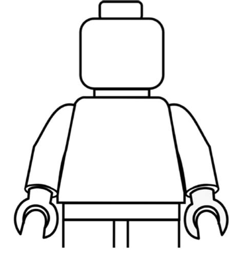 blank lego coloring page color him in lego guy lego party pinterest coloring