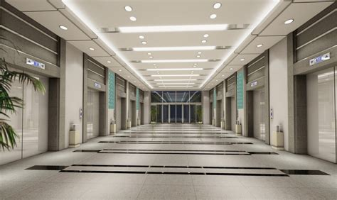 The administration building lift waiting hall   Interior Design