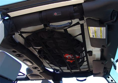 jeep wrangler overhead overhead cargo net storage my next project is to make one