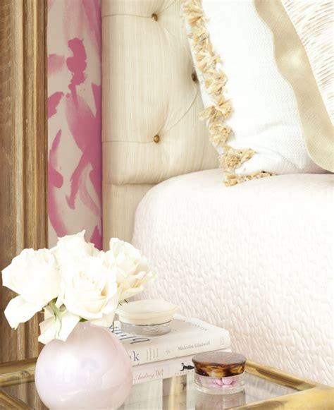pink and gold bedroom hollywood regency bedroom