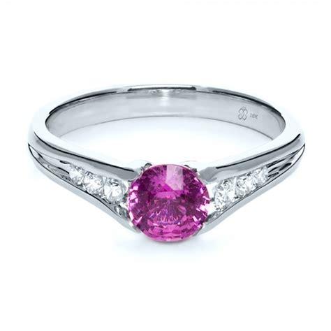 custom pink sapphire engagement ring 1120 bellevue