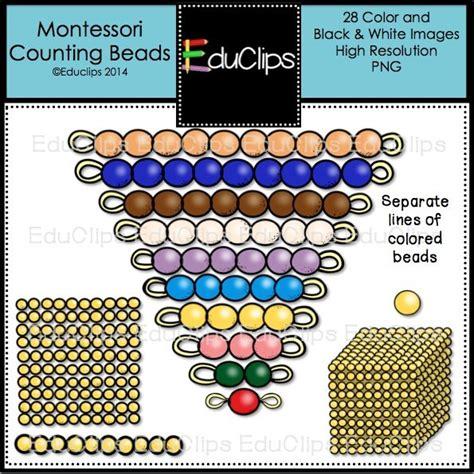 montessori counting montessori counting clip bundle color and b w