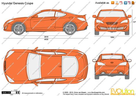 the blueprints vector drawing hyundai genesis coupe