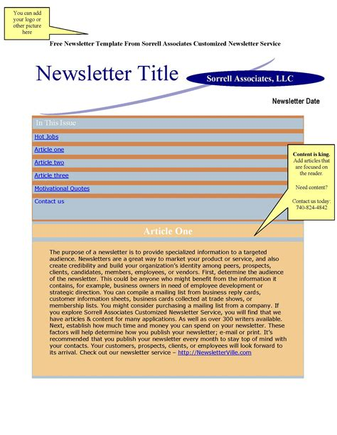 newsletter template for pages image gallery newsletter format