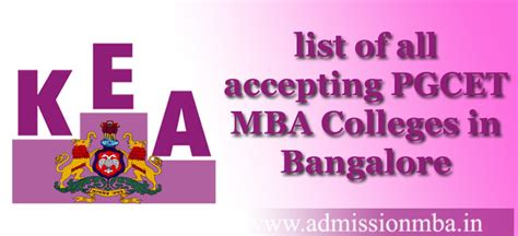 Top Mba Colleges In Bangalore With Fees by Entrance Score Pgcet Accepting Mba Colleges In Bangalore