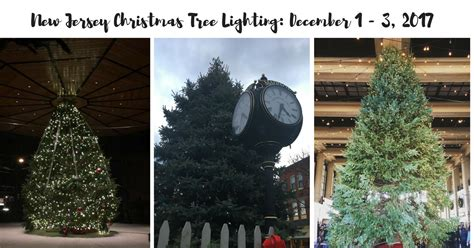 new jersey christmas tree lightings this weekend december