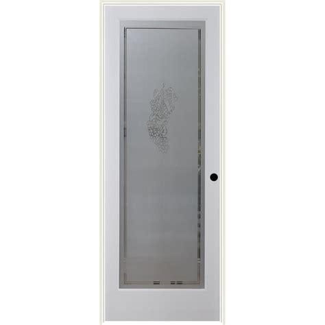 Prehung Interior Glass Doors Shop Reliabilt Vintage Solid Frosted Glass Single Prehung Interior Door Common 32 In X 80