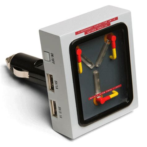flux capacitor date back to the future flux capacitor car charger merchandise zavvi
