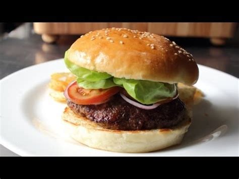 Handmade Hamburgers - hamburger buns how to make burger buns