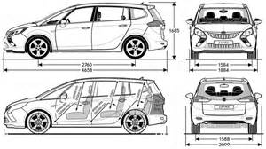 Dimensions Of Vauxhall Zafira Opel Zafira 2006 Dimensions Crafts