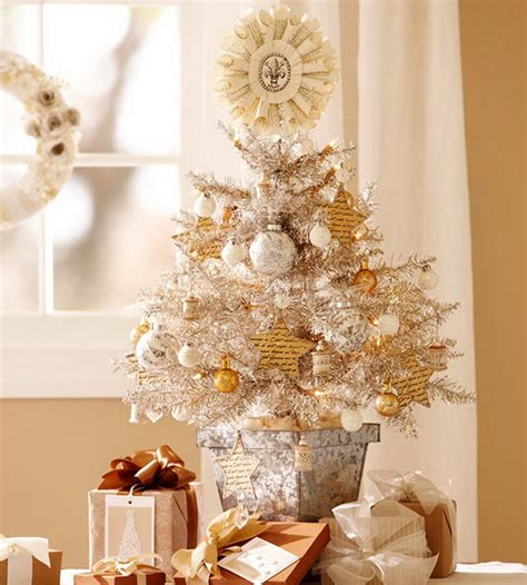 elagant christmas table tops in white theme white table top tree homesfeed