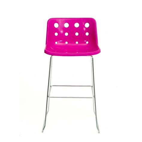 Pink Bar Stool by Loft Robin Day Skid Pink Plastic Polo Bar Stool By Fusion
