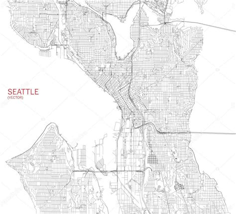 seattle map illustration 시애틀 지도 위성 사진 보기 스톡 벡터 169 vy1 110777852