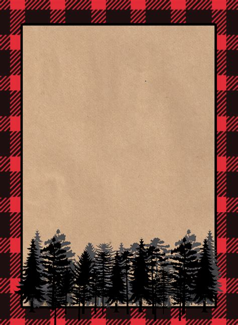 Printable Invitation Paper lumberjack invitation free printable paper trail design
