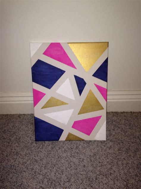 canva drawing diy canvas art apply painters tape randomly around a