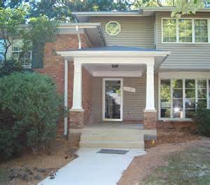 Porch With Pitched Roof Craftsman Style Portico Porch Covered Entryway W