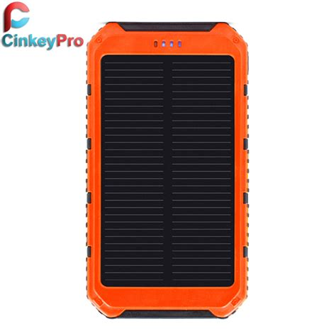 solar led light tender cinkeypro 5000mah backup power bank solar usb charger
